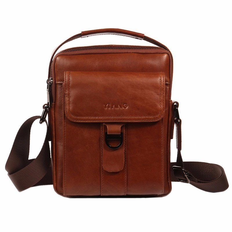 2a84eed6cb9b Man Messenger Bag Men Genuine Leather Shoulder Bags Small Briefcase Handbag  Business Crossbody Bag Famous Brand Ipad Satchel Bag