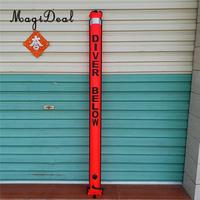 6ft High Visibility Reflective SMB Surface Marker Buoy Scuba Diving Safety Gear Equipment Orange