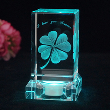 Four-leaf clover night light Dandelion Rose 3D LED Multicolor Lighting Lamp  Night Light D25