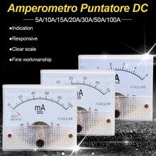 DC Analogico Puntatore Misuratore di Corrente Pannello 5A/10A/15A/20A/30A/50A/100A Calibro corrente Meccanico Amperometri