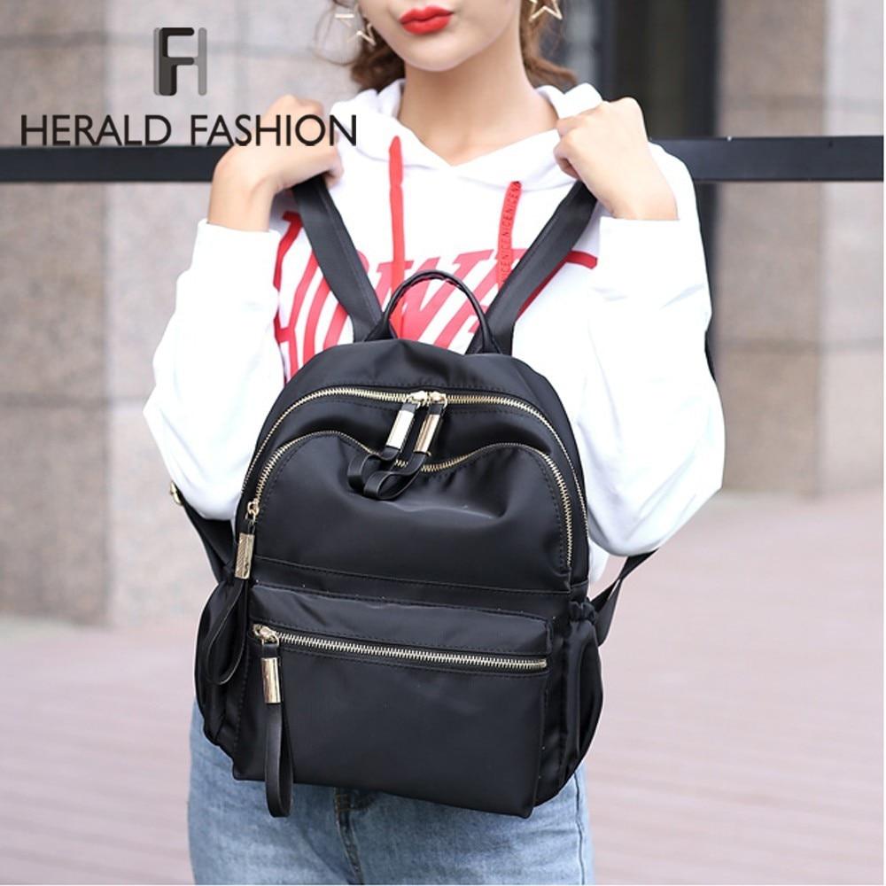 Herald Fashion Women Backpack Female High Quality Youth Backpacks For Teenage Girls Women School Shoulder Bags Bagpack Bookbag #1