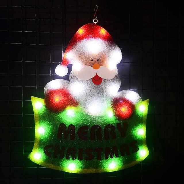 2D EVA Santa clause festival lights - 21 in. Tall navidad illuminated Cafe signboard hanging Bar Signage home wall decoration
