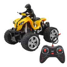 Rowsfire 1 Pcs RC Off-Road Vehicle RC 4-Wheel Motorcycle 360 Degrees Rotation In Situ Beach Motorcycle - Yellow/Red/Blue цены онлайн