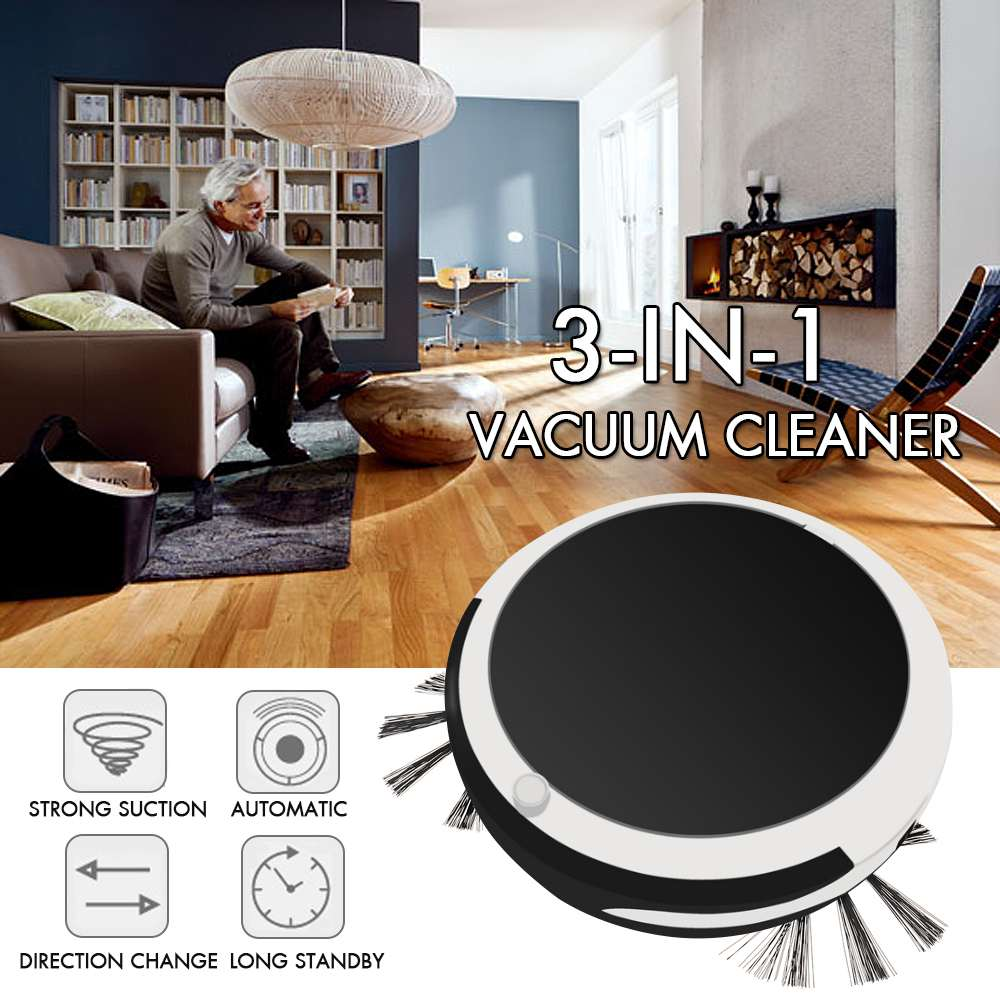 3in 1 Smart Sweeping Robot Sweep Suction Drag Machine 1200PA Wet and Dry Vacuum Cleaner Sweeping