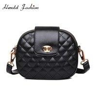 Herald моды Алмазный решетки небольшая сумка для Для женщин качества кожаные женские клапаном сумка классическая женская сумка Sac