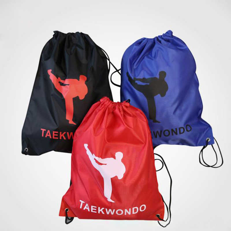 Taekwondo Bag Sports Fitness Double Rope Bag Backpack Unisex Training Waterproof Taekwondo Dobok Soft Travel Gym Sport Equipment