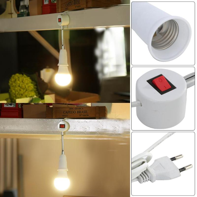E27 Sewing Machine Universal Lamp Holder Magnetic Mounting Flame Retardant PC Copper Light Bulb Base