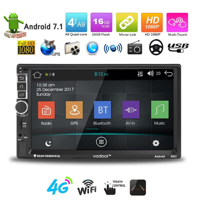 7in Car Player Touch Screen 2Din Android Bluetooth Car GPS Navigator MP5 Player Car Electronics Accessories