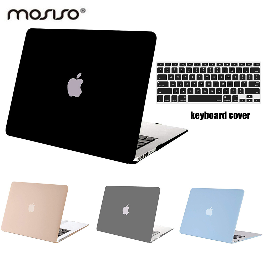 Mosiso Hard Case for Macbook Air 13 inch 2014 2015 2016 2017 2018 Matte Coque Cover Case for Mac Air 11+ Silicone Keyboard Cover image