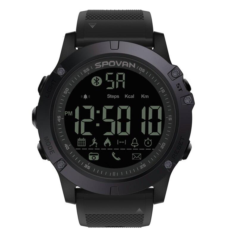 SPOVAN Digitale Uhr männer Wasserdichte Sport Uhr Männer Barometer Höhenmesser Thermometer Stoppuhr Armbanduhr Relogio Masculino