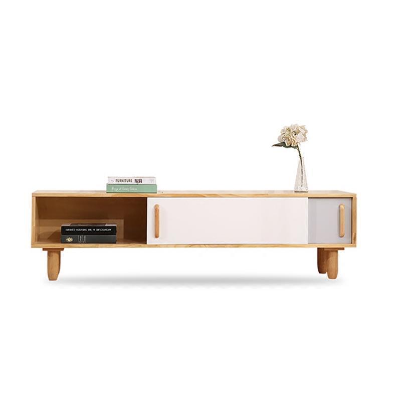 Bureau Standaard Ecran Plat Modern Entertainment Center Nordic Wood Living Room Furniture Mueble Meuble Monitor Tv Stand