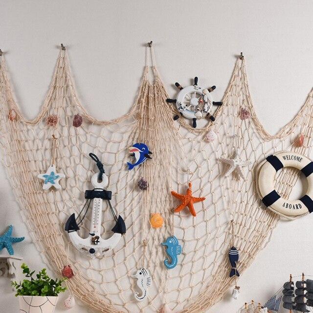 1 Pc décoratif poisson Net sirène partie océan partie Pirate décoration bricolage Sticker mural suspendus enfants fête danniversaire décor fournitures