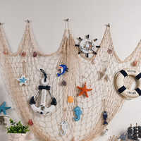 1Pc Decorative Fish Net Mermaid Party Ocean Party Pirate Decoration DIY Wall Sticker Hanging Kids Birthday Party Decor Supplies
