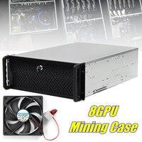8 GPU 10 вентиляторы и замок Bitcoin BTC шахтер добыча сервер рамки Rig графика случае эфириума ETH Aolly случае Новое поступление 2019