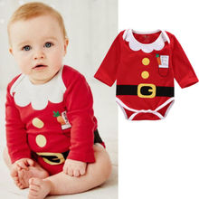Chirstmas Bodysuit Newborn Infant Baby Girl Boy Long Sleeve Christmas Xmas
