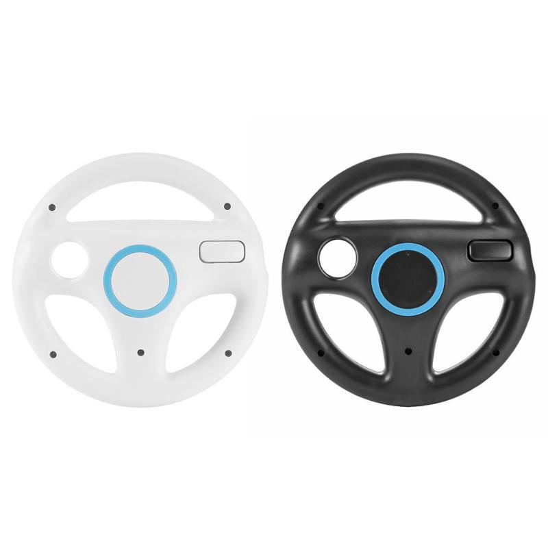 ABS Plastic Steering Wheel For Nintend For Wii Mario Kart Racing Games Remote Controller Console Gamepad Game Accessories image