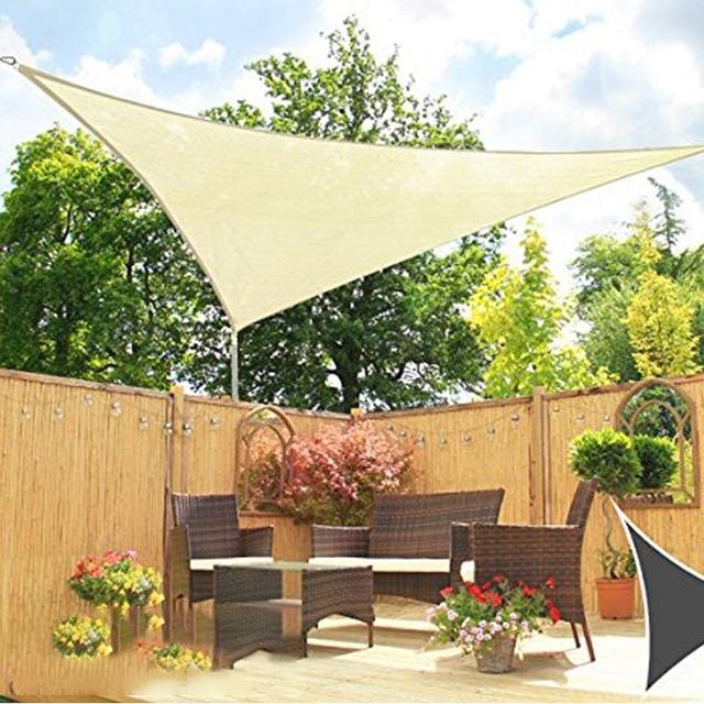 New Sale Triangle Sun Shade Sail Sunshade Tent Garden Patio Swimming Pool Sunscreen Uv Tent
