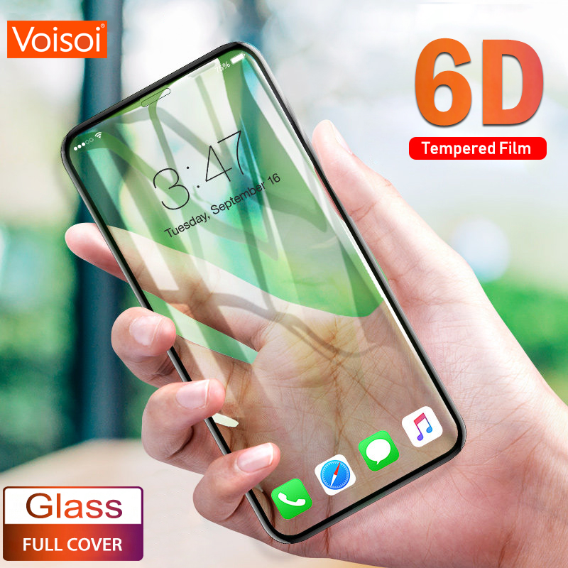 6D Full Tempered Glass Movie For Apple Iphone X 10 Xs Max Full Curved Display Protector On The For Iphone Xr Cowl Protecting Movie