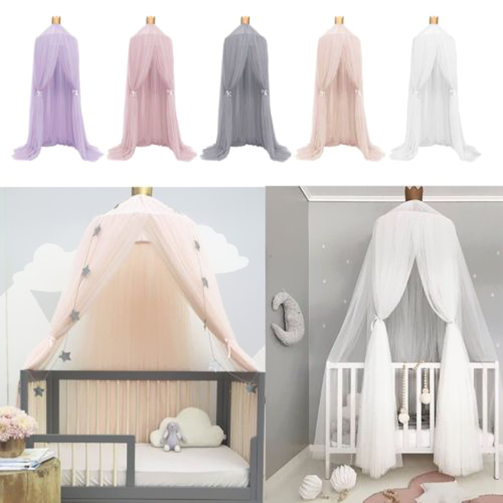 US $23.64 45% OFF|1pc Baby Bedding Mosquito Net Bed Canopy Round Dome Bed  Curtains Conical Children Bedroom Girls Room Decor Cibinlik Baldachim-in ...