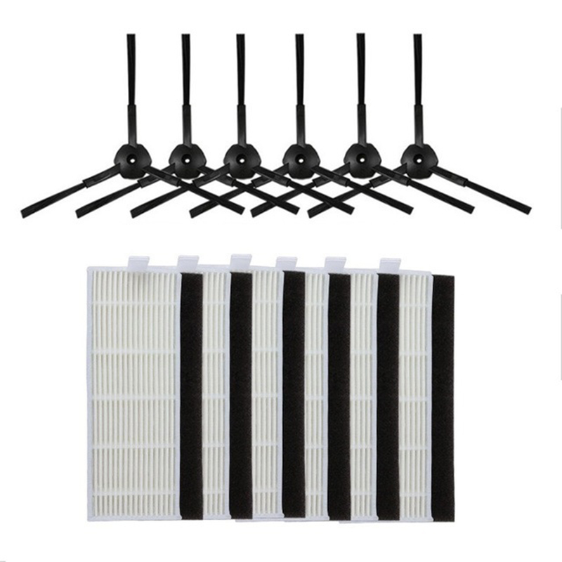 18pcs Side brush hepa Filter replacement kit for ILIFE A4 Cleaning Robot ILIFE A4s A6 A4 Robot Vacuum Cleaner parts filter hep|Vacuum Cleaner Parts| |  - title=