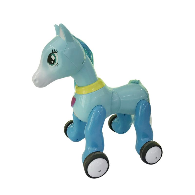 Children Pony Projection Toy Remote Control Pony With Light Music Touch Sensor Puzzle Remote Control Toy Gift