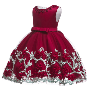 Image 4 - 0 24M Baby Girls Infant Party Vestidos Flower Tutu Dresses For Summer Party Baby Girls Clothes Sleeveless Princess Wedding Dress