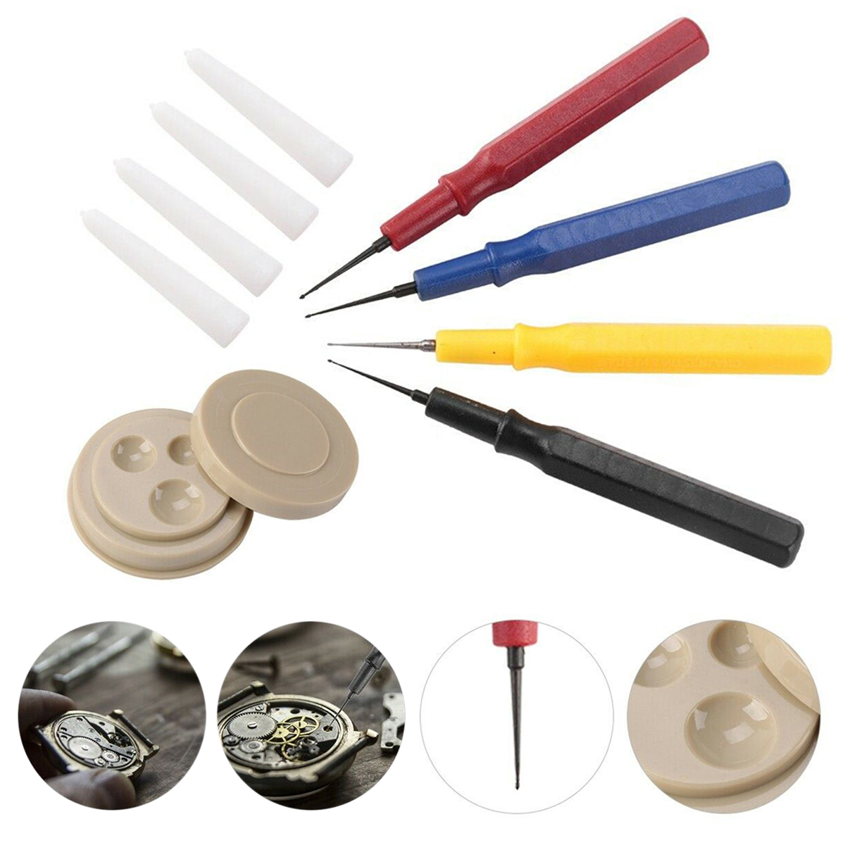 Professional Watch Oiler Kit Watchmaker Repair Tool Watch Oiler Set 1 Oil Cup 4 Oil Pen Assortment Watch Tool Kit