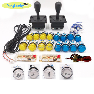 Image 3 - 2 נגני ארקייד ג ויסטיקים DIY ערכת אפס עיכוב USB מקודד האמריקאי סגנון ג ויסטיק 28mm לדחוף כפתור מחשב Mame פטל pi 1 2 3
