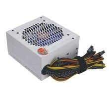 90-270 В макс 550 Вт блок питания центральный процессор для ПК 12 В 20 + 4Pin 120 мм бесшумный вентилятор Pcie-E Sata адаптер питания для Intel Amd компьютер США