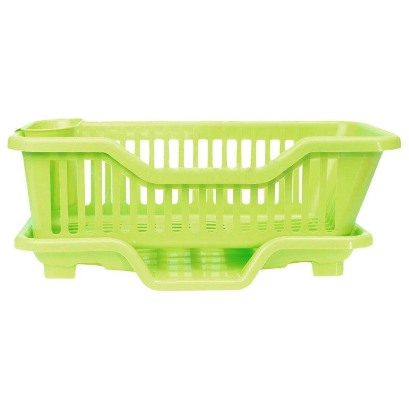 Kitchen Sink Dish Plate Utensil Drainer Drying Rack Holder Basket Organizer Tray