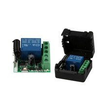 DC 12V 1CH 433MHz Universal Wireless Remote Control Switch RF Relay Receiver 433 MHz Transmitter Button Module Diy Kit(China)