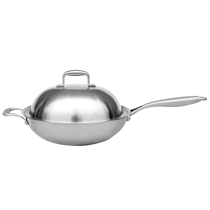All Sale Durable Pans Cookware Stainless Steel Energy Saving Environmental Protection Frying Pan For Home Kitchen