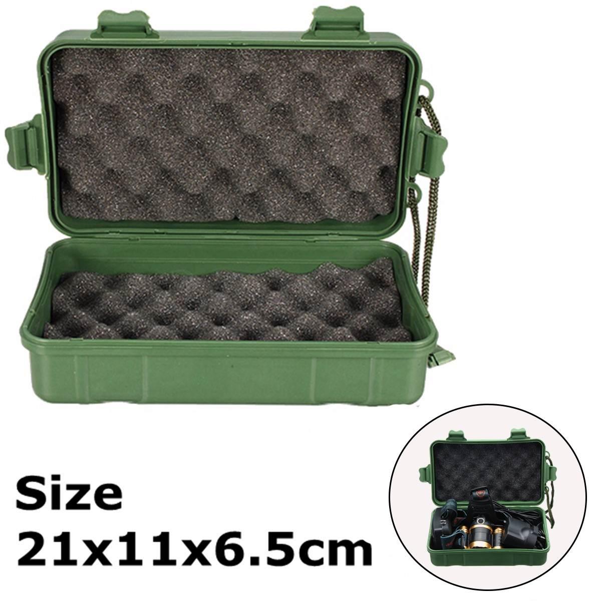 Green Plastic Kit Box Case Storage Holder For Led Flashlight Torch Lamp Light Headlight 21cm/18cm
