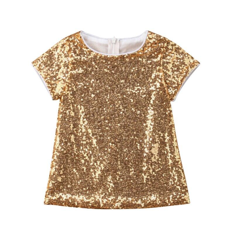 CANIS/Новинка 2019 года, рождественское платье с золотыми блестками для маленьких девочек, вечерние платье на день рождения, летняя одежда для д...