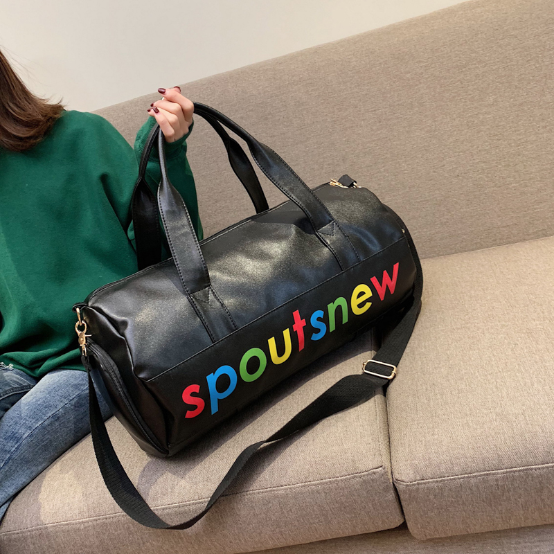 Women Bags Pu Leather Training Travelling Bag Woman Portable Tote Bag A Short Trip Large Capacity Light Travelling Bags