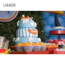 Laeacco Children Birthday Cake Candle Backdrop Photography Backgrounds Customized Photographic Backdrops For Photo Studio