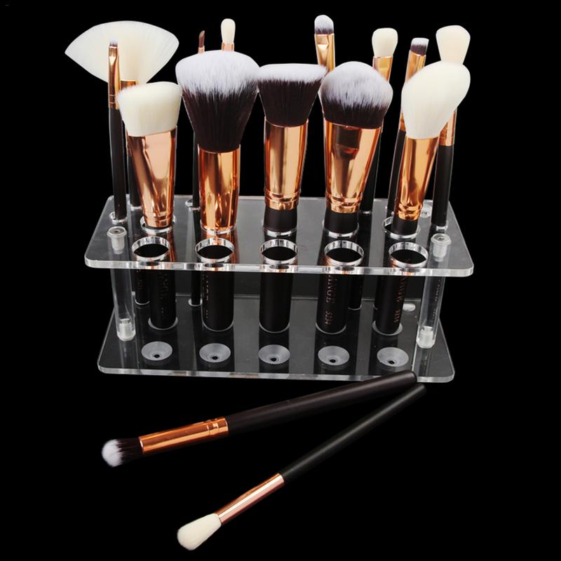 20 Holes Makeup Brush Display Stand Artifact Makeup Brush Holder Drying Rack Holder Air Brush Tool Brush Placement Table