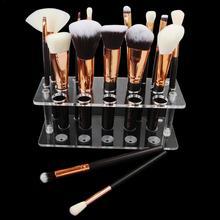 цены 20 Holes Makeup Brush Display Stand Artifact Makeup Brush Holder Drying Rack Holder Air Brush Tool Brush Placement Table