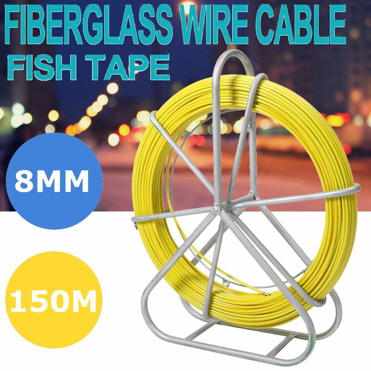 8mm 150 M câble en fibre de verre fil tige de course serpent poisson rotatif extracteur Flexi plomb électrique en fibre de verre fil câble de course tige extracteur