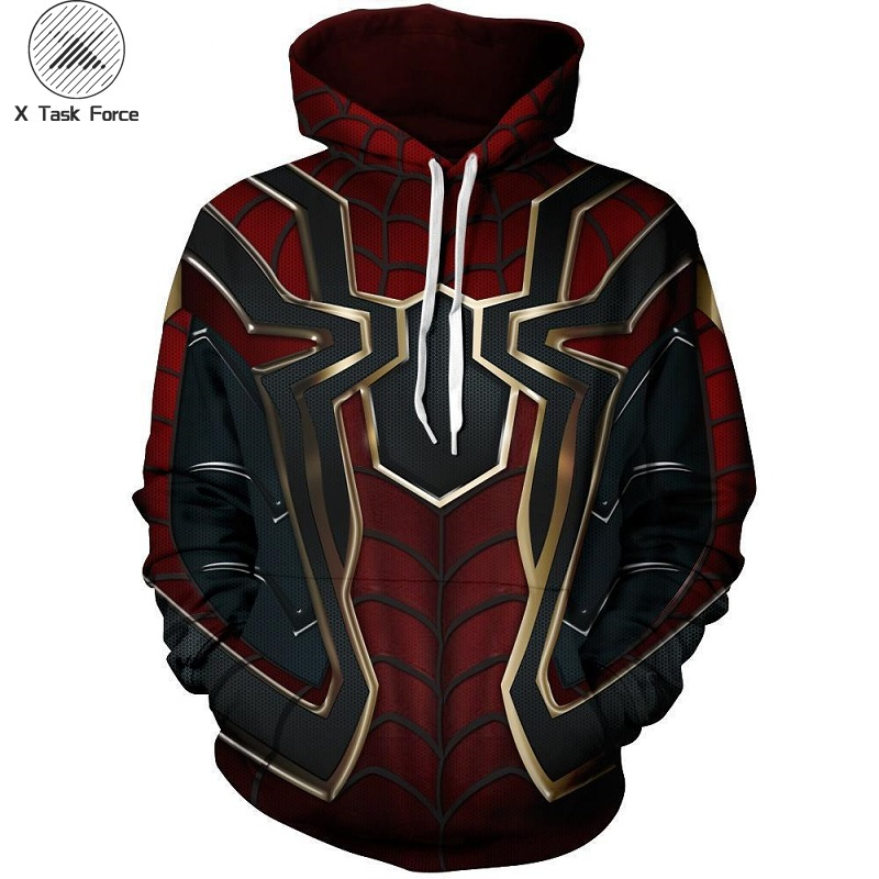 2019 Movie Avengers Endgame Quantum Realm Sweatshirt Jacket Advanced Tech Hoodie Cosplay Costumes Superhero Iron Man Hoodies 6XL