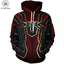 все цены на 2019 Movie Avengers Endgame Quantum Realm Sweatshirt Jacket Advanced Tech Hoodie Cosplay Costumes superhero Iron Man Hoodies 6XL