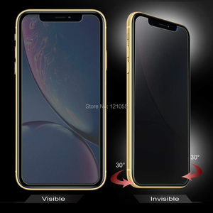 Image 2 - 10pcs/lot Privacy Screen Protector For iPhone 11 PRO MAX XS 6 SE 7 8 plus Tempered Glass Cover Anti peep Protection Film package