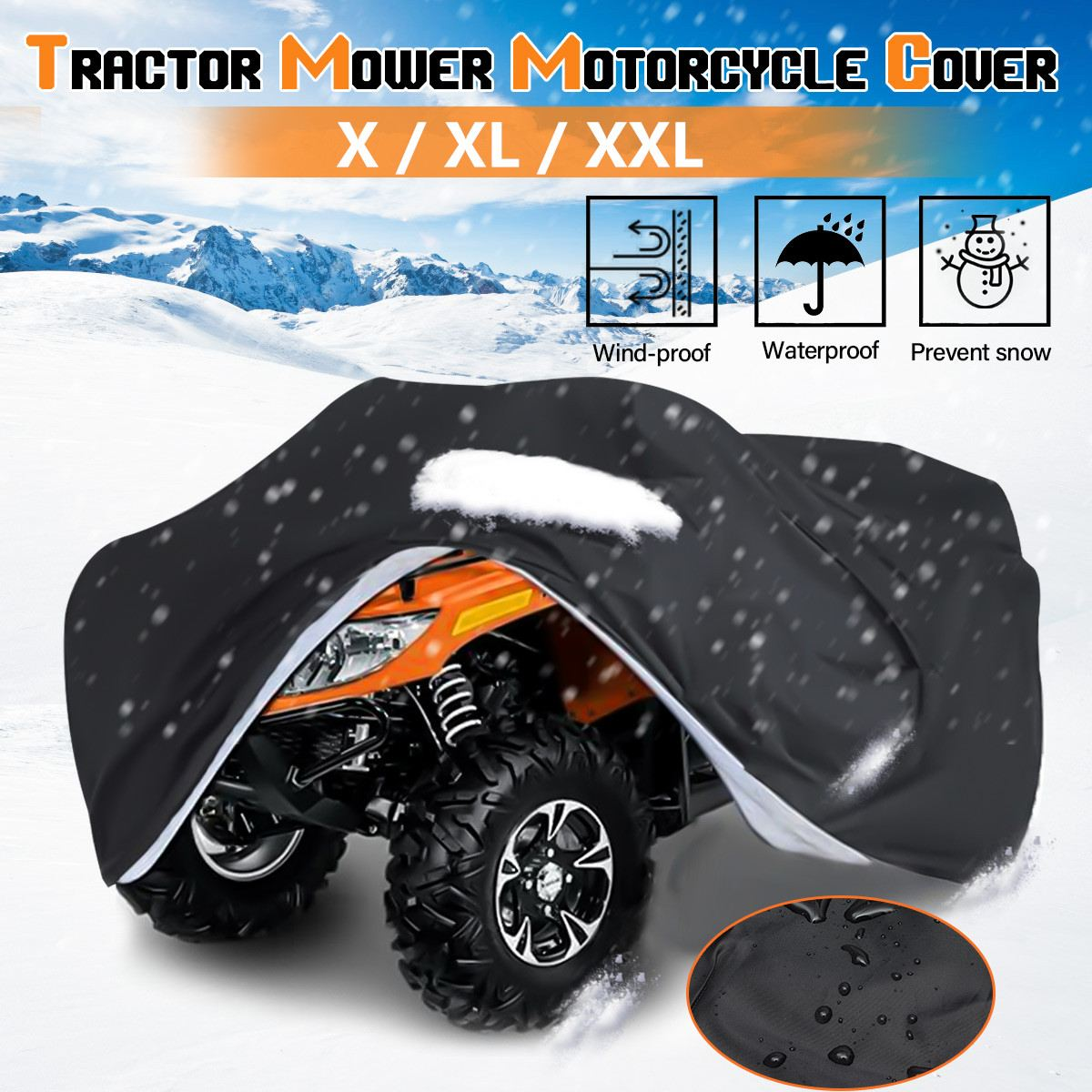 L/XL/XXL Lawn Mower Cover Waterproof Snowblower Cover Shade UV Protection Tractor Covers For Yard Garden Furniture Motorcycle