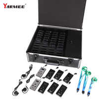Yarmee One Set Wireless Tour Guide Audio System for Church Visiting Groups Tourist 2 Transmitters and 38 Receivers