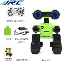 JJRC R13 CADY WIRI Smart RC Robot Programmable forTouch Control Voice Message Record Sing Dance Toy For kid Children Gift 2019 2018 new intelligent cady wigi jjrc r6 remote control programmable dancing usb rc robot t vader stormtrooper model toy for kids