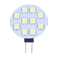 5 x G4 Pure White 10 5050 SMD LED Marine Boat Spot Light Lamp Bulb DC 12V
