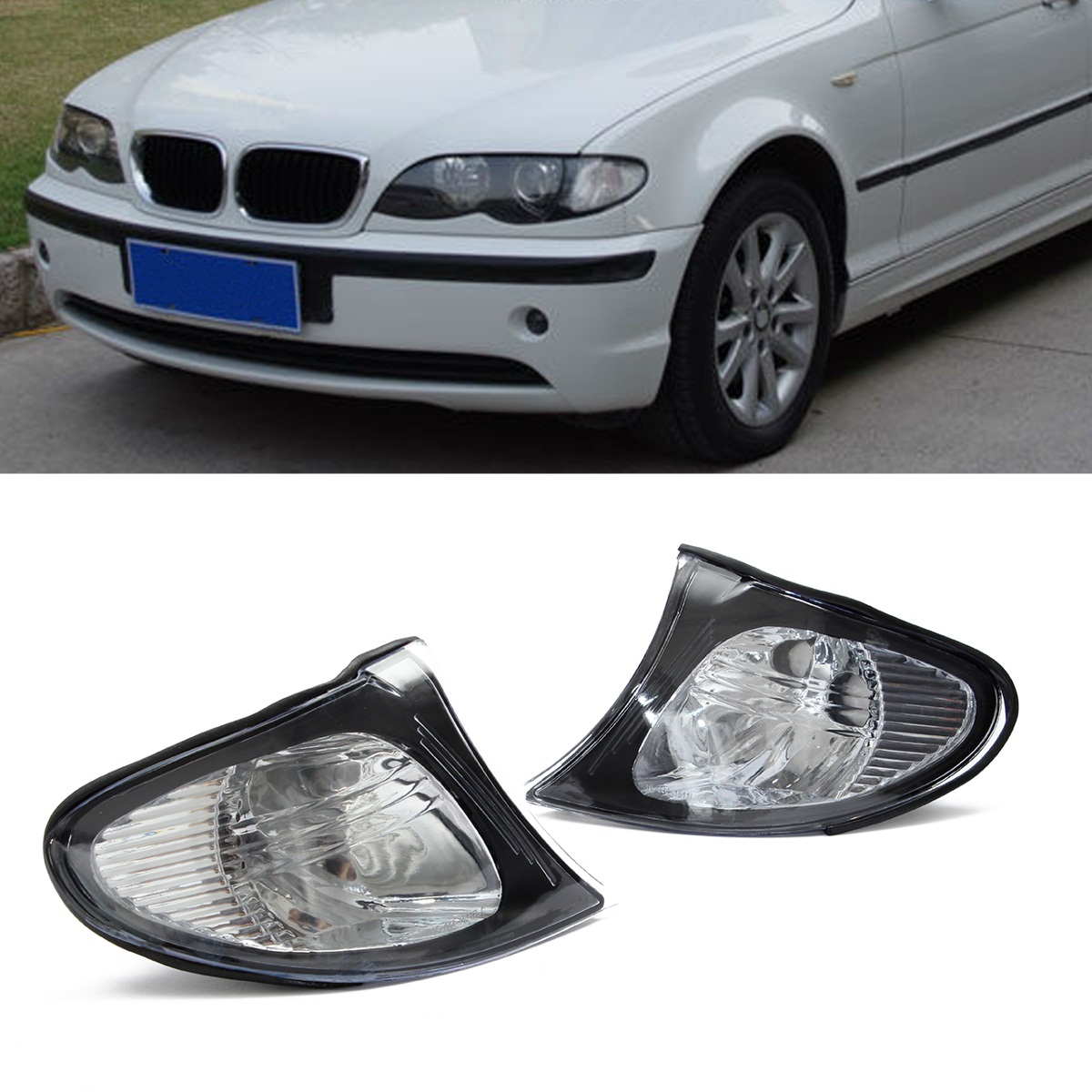 Pair Brand New Car Corner Lights Sidelights Lens Clear Left&Right For BMW E46 3-Series 325i 325xi 330i 330xi 4DR 2002-2005 new pair left