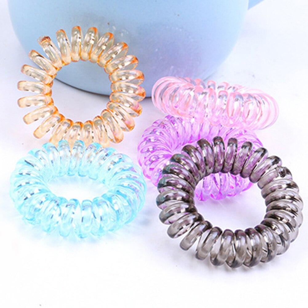 10PCS Elastic Hair Bands Small Telephone Line Rope Ponytail Holder Tie Gum Kid Headwear