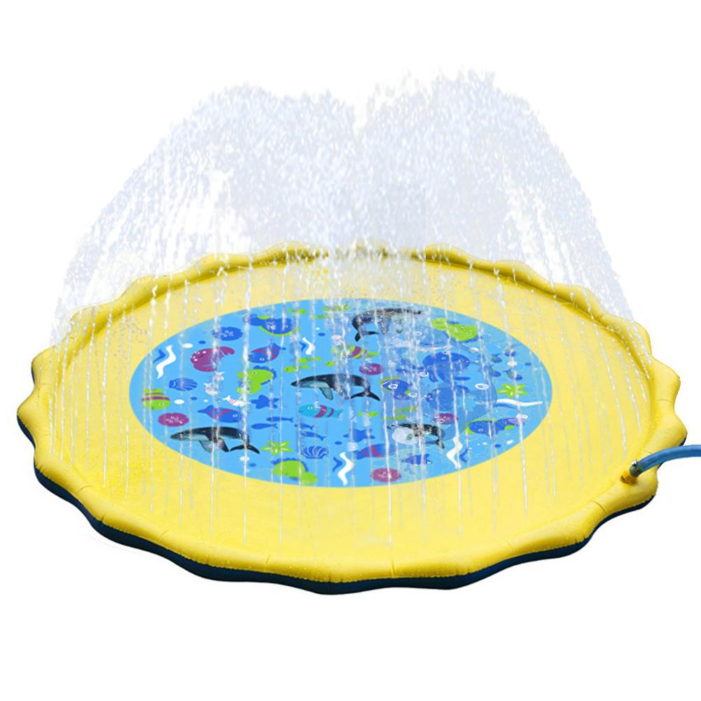 Water Sprinkler Spray Mat Lawn Play Mat PVC Inflatable Water Spray Toys for Children Kids