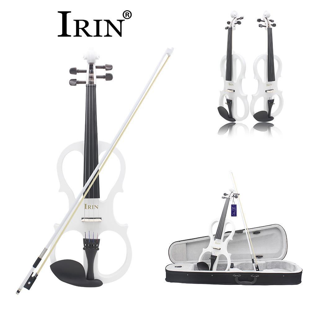 IRIN 4/4 Electric Acoustic Violin Fiddle with Violin Case Cover Bow for Musical Stringed Instrument Lovers 80*12*25cmIRIN 4/4 Electric Acoustic Violin Fiddle with Violin Case Cover Bow for Musical Stringed Instrument Lovers 80*12*25cm